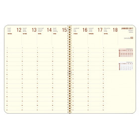 Recharge agenda spirale OBERTHUR Contemporain 27 - 21x27cm - 1 semaine sur 2 pages LODGE/KENT