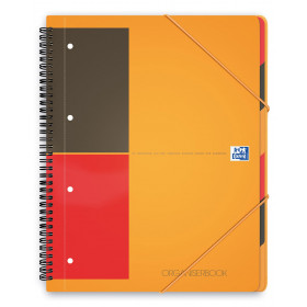 Cahier-Trieur spirale ORGANISERBOOK OXFORD International 160pages - ligné - 245x310mm