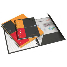 Cahier-chemise A5 spirale MEETINGBOOK OXFORD International 160pages - ligné - 178x225mm