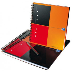 Cahier A5 spirale OXFORD 160 pages - ligné - 169x210mm