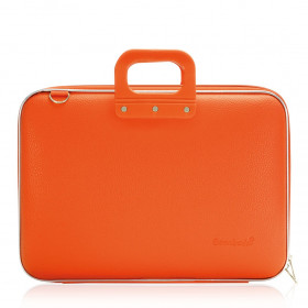 "Mallette PC Portable 17"" BOMBATA CLASSIC vinyle ORANGE - 46,5x35x8cm"
