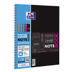 Cahier A4+ à spirale NOTEBOOK OXFORD étudiants 160pages - carreaux 5x5mm - 230x297mm