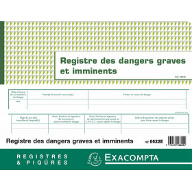 Registre des dangers graves et imminents EXACOMPTA 24x32cm - 20 pages