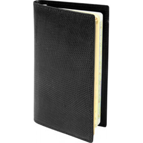Agenda MIGNON AS16 - 154x78mm - Lézard Noir