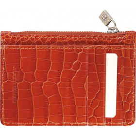 Mini smoking MIGNON - 115x80mm cuir Veau Croco SAVANNAH Orange
