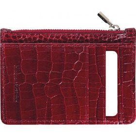 Mini smoking MIGNON - 115x80mm cuir Veau Croco SAVANNAH Rouge
