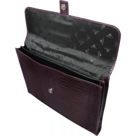 Porte-documents MIGNON - 27x37cm cuir Veau Croco SAVANNAH Violet