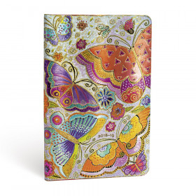 Agenda (version ANGLAISE) PAPERBLANKS 2019 Flutterbyes - Maxi - 135×210mm - 1 semaine sur 2 pages Vertical