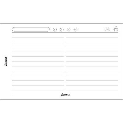 Recharge FILOFAX format MINI - Feuille contacts M2