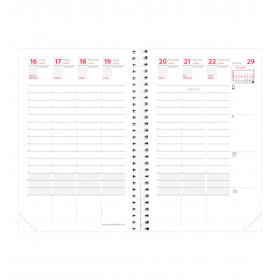 Recharge agenda QUOVADIS TIME&LIFE POCKET Septembre - 10x15cm - 1 semaine sur 2 pages