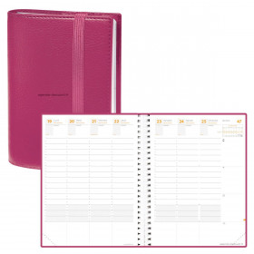 Agenda QUOVADIS TIME&LIFE XLARGE Time & Life - Rose - 21x27cm - 1 semaine sur 2 pages