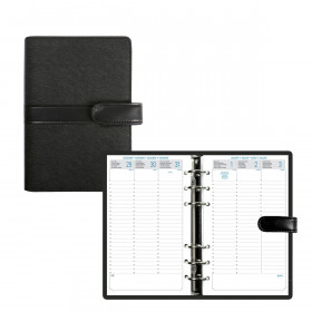 Organiseur EXACOMPTA Exatime 17 light Kelly noir - 190x135mm