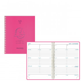 Agenda EXACOMPTA SAD 19W Linicolor - 180x140mm - 1 semaine sur 2 pages - spirale - ROSE FRESH