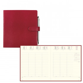 Agenda EXACOMPTA Eurotime 18 Rialto Rouge - 170x150mm - 1 Semaine sur 2 pages
