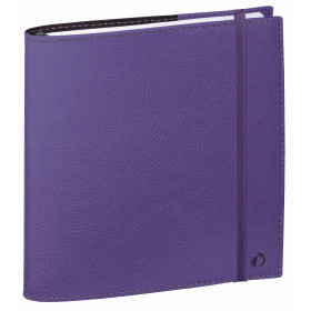 Agenda QUOVADIS TIME&LIFE MEDIUM violet - 16x16cm - 1 semaine sur 2 pages