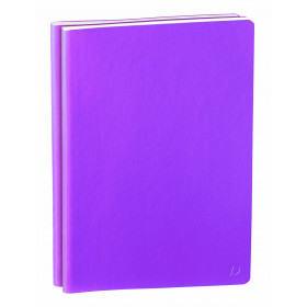 Carnet QUOVADIS ligné DUO 15 Habana Smooth violet 10x15cm