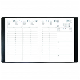 Agenda ECO MERCURE ML Alpha noir - 21x27 cm
