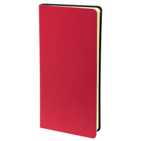 Agenda QUOVADIS ITALNOTE - 8,8x17cm - 1 semaine sur 2 pages couverture TOSCANA ROUGE COQUELICOT
